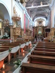 Dekoracja Kościoła - Bazylika w Czerwińsku