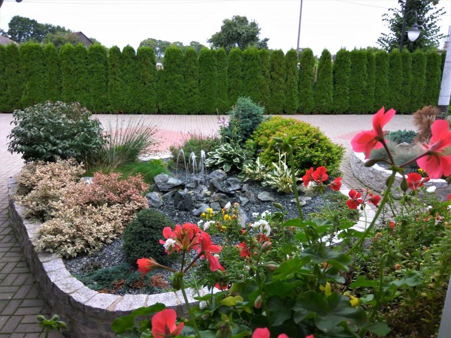 Ogródek z fontanną